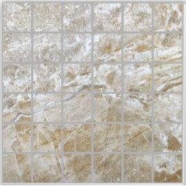 Onyx Pietra Large Square Mosaic Polished Porcelain 30x30