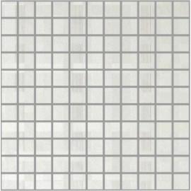 Perla Bianco Polished Porcelain Small Square Mosaics 30x30cm