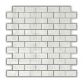 Perla Bianco Polished Porcelian Brick Mosaics 30x30cm
