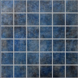 Ascas Blue Polished Porcelain Large Square Mosaic 30x30