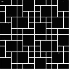 Speckled Super Black Polished Porcelain Mosaic 30x30cm