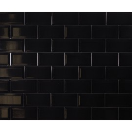 Metro Black Ceramic 10x20cm Single Tile