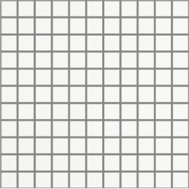 Matt Super White Small Square Mosaic