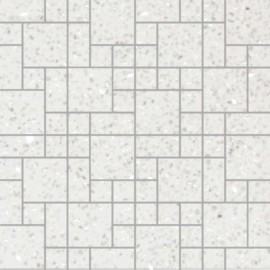 Off- White Mirror Fleck Quartz Mosaics Random