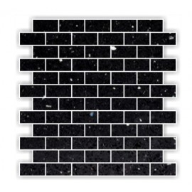 Black Mirror Fleck Quartz Mosaics Brick