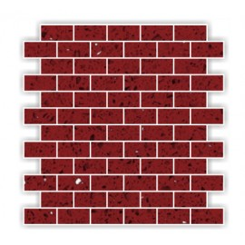 Ruby Red Mirror Fleck Quartz Mosaics Brick