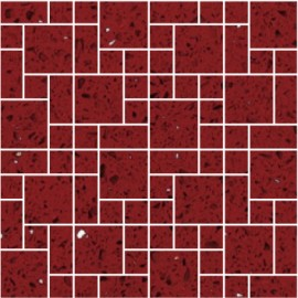 Ruby Red Mirror Fleck Quartz Mosaics Random