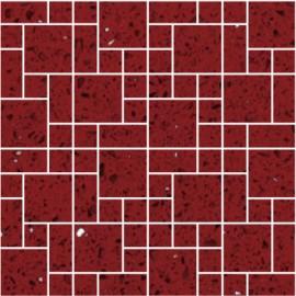 Ruby Red Mirror Fleck Quartz Mosaics Random