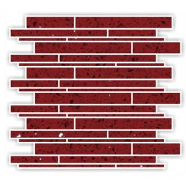 Ruby Red Mirror Fleck Quartz Mosaics Liner