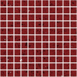 Ruby Red Mirror Fleck Quartz Mosaics Small Square