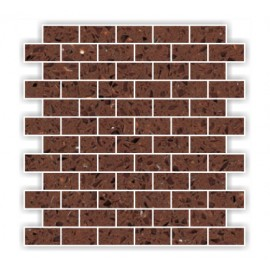 Brown Mirror Fleck Quartz Mosaics Brick