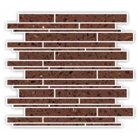 Brown Mirror Fleck Quartz Mosaics Liner