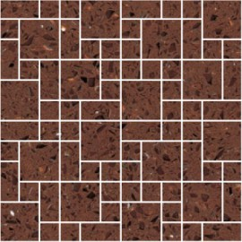 Brown Mirror Fleck Quartz Mosaics Random