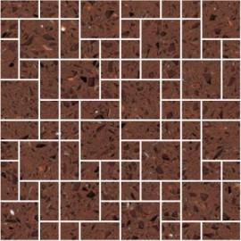 Brown Mirror Fleck Quartz Mosaics Random