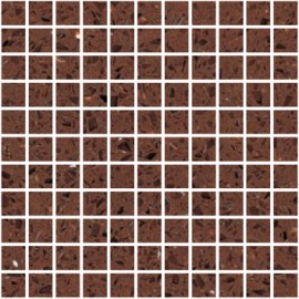 Brown Mirror Fleck Quartz Mosaics Small Square