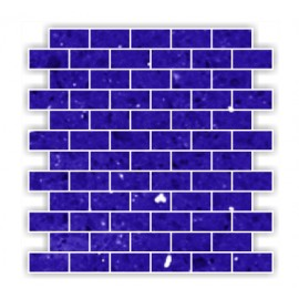 Blue Mirror Fleck Quartz Mosaics Brick
