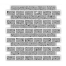 Grey Mirror Fleck Quartz Mosaics Brick