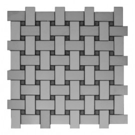 Brushed Stainless Steel Mosaic Net Style