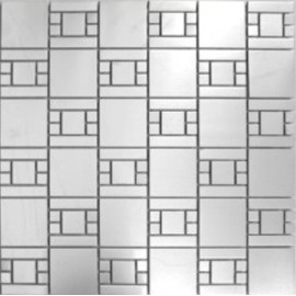 (OHSS-1M) Brushed Stainless Steel Mosaic