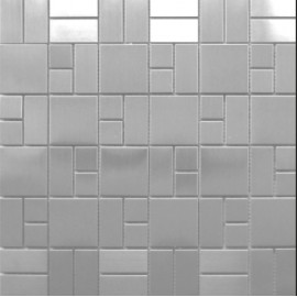 (OHSS-DM) Brushed Stainless Steel Mosaic
