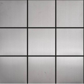 (OHSS-10X10M) Brushed 10x10cm Stainless Steel Mosaics