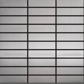 Brushed Stainless Steel Mosaic Rectangular