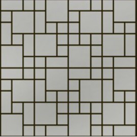 Brushed Stainless Steel Mosaic Random