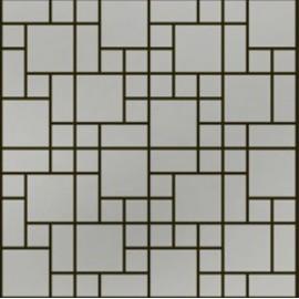 Brushed Stainless Steel Mosaic Random