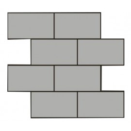 Brushed Stainless Steel Mosaic Brick