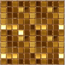 (OHSS-M-SSG) Gold Stainless Mosaic Small Square