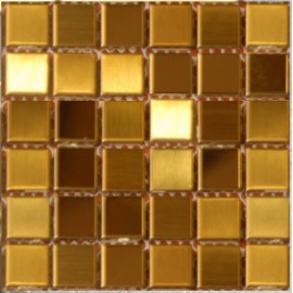 (OHSS-M-LSG) Gold Stainless Steel Mosaic Large Square