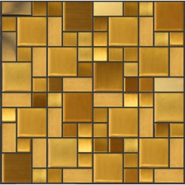 Gold Stainless Steel Mosaic Random