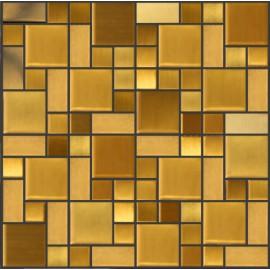 Gold Stainless Steel Mosaic Random