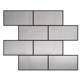 Polished Stainless Steel Mosaic Brick