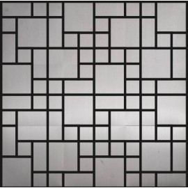 Polished Stainless Steel Mosaic Random
