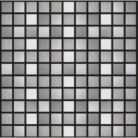 Brushed/Chrome Stainless Steel Mosaic