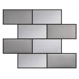 (OHSS-M-7.5X15B) Blended Stainless Steel Mosaic Brick