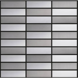 Blended Stainless Steel Mosaic Rectangular