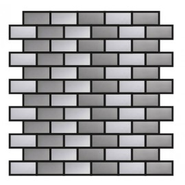 Blended Stainless Steel Mosaic Brick