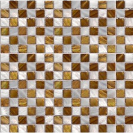 Cream & Brown Mixed Shell Mosaic