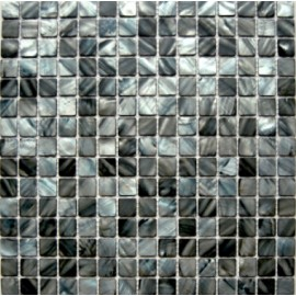 Blue/Grey & Brown Mixed Shell Mosaic