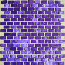 Purple Shell Mosaic Rectangular