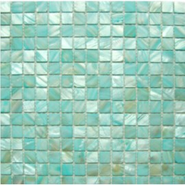 Aqua Blue Shell Mosaic