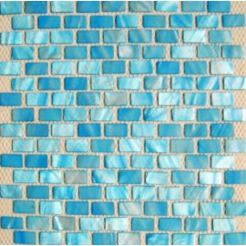 Light Blue Shell Mosaic Rectangular