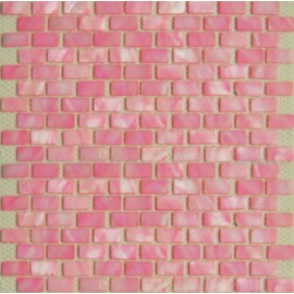Pink Shell Mosaic Rectangular