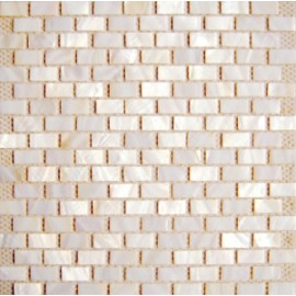 Cream Shell Mosaic Rectangular
