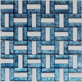 (OHGL-BL-05T) Blue & S/S Leaf Mosaic