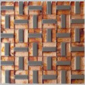 Teak & S/S Leaf Mosaic