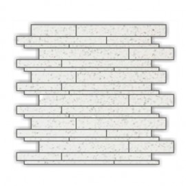 Off- White Mirror Fleck Quartz Mosaics Liner