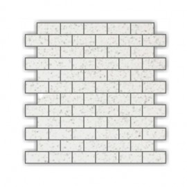Off- White Mirror Fleck Quartz Mosaics Brick 30x30